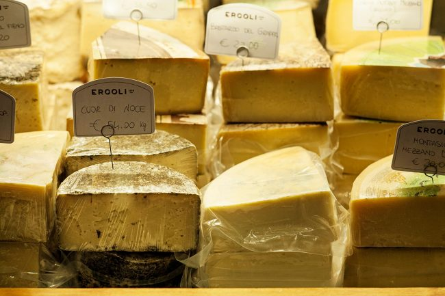 Selezione di formaggi stagionati