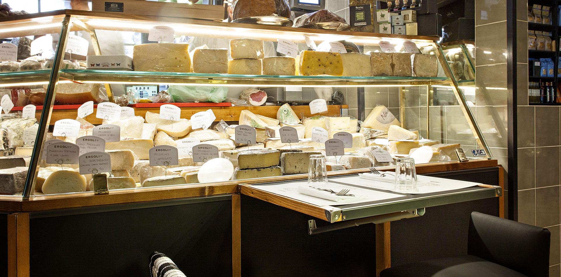 ercoli parioli gastronomia banco formaggi