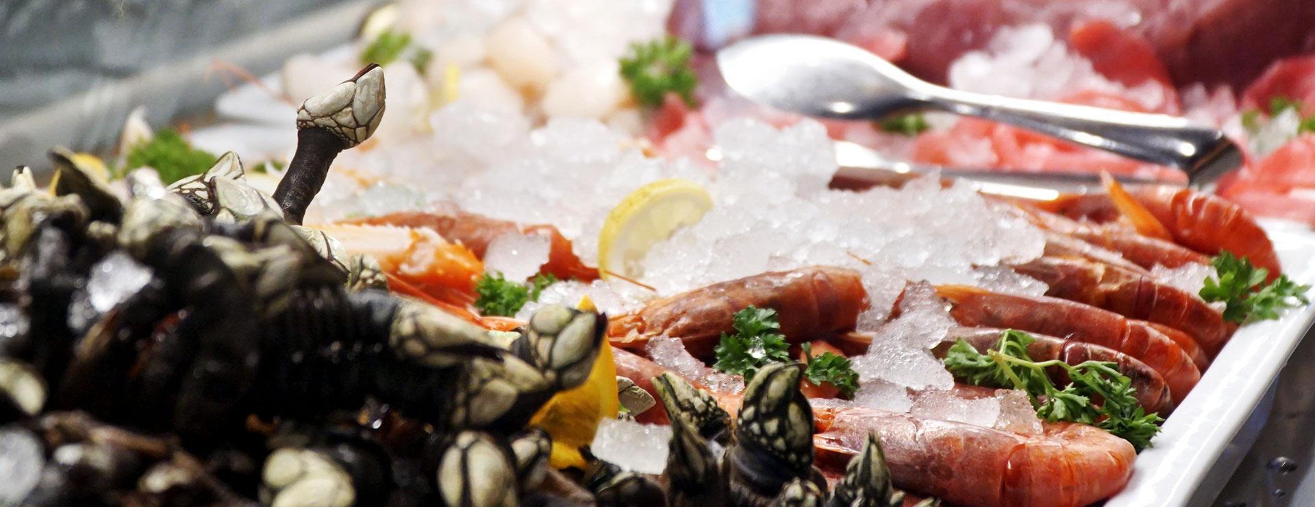 gastronomia crostacei e crudi di pesce