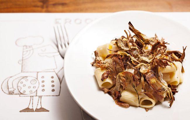 maccaroncini carciofi ercoli parioli ristorante