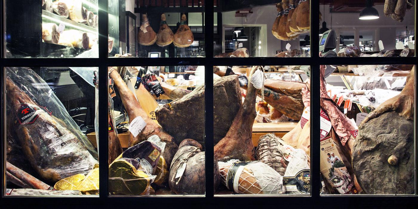 vetrina gastronomia ercoli a roma