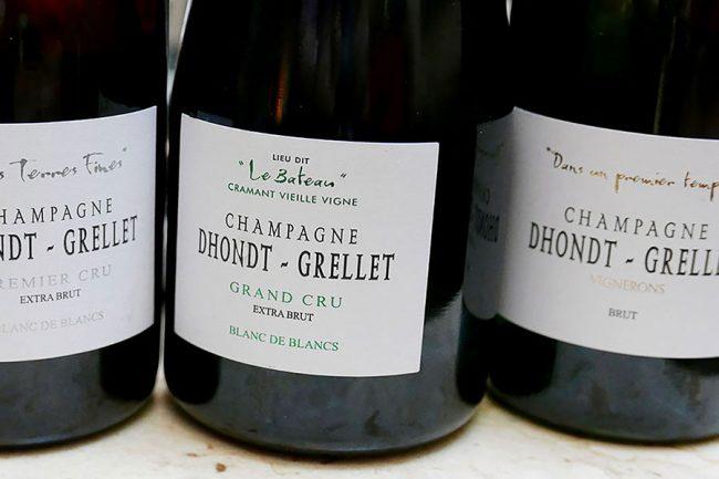 etichetta champagne Dhondt-Grellet