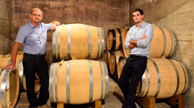 i produttori Dhondt-Grellet e botti di champagne