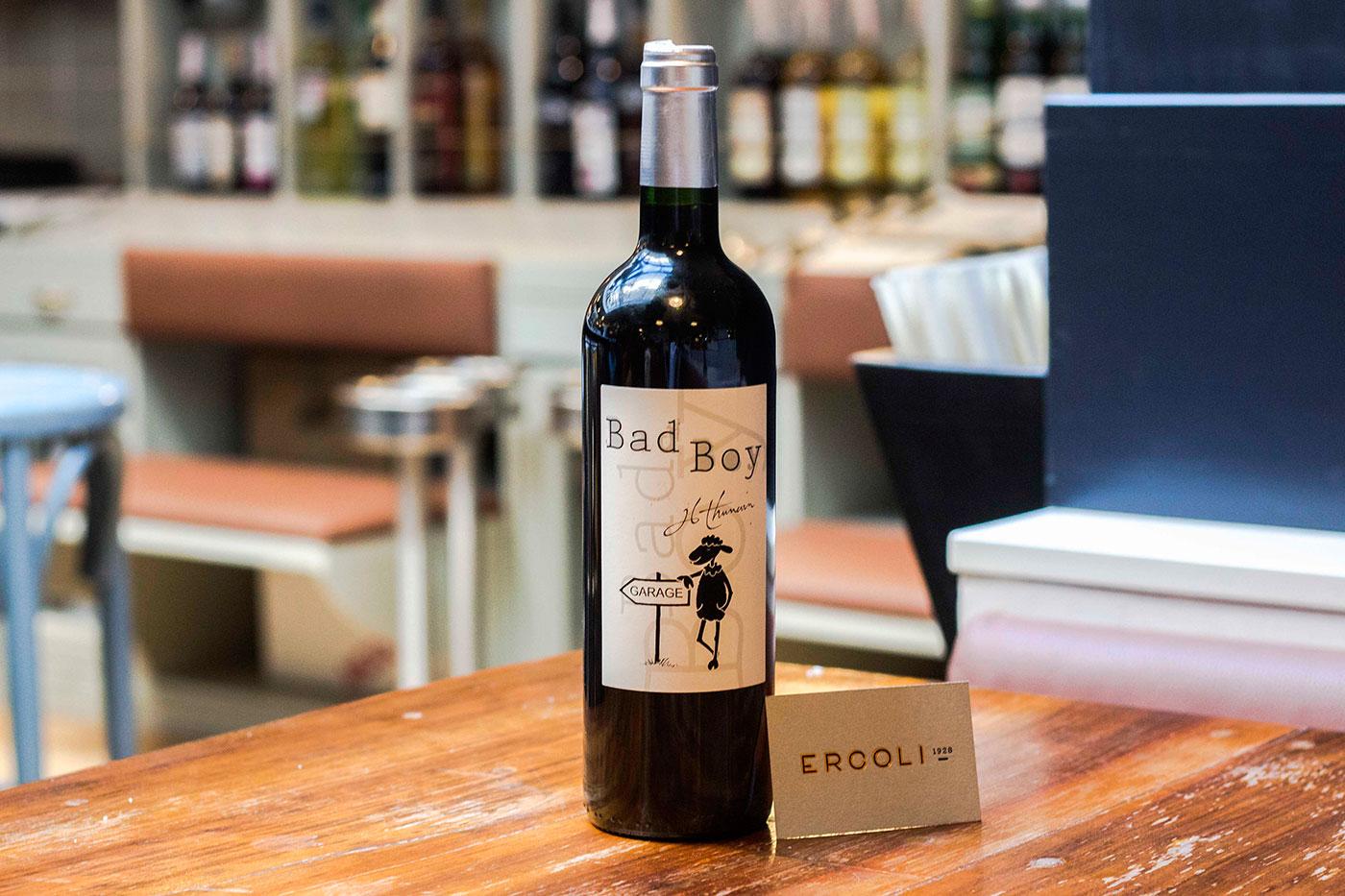 bottiglia di vino Bad Boy di Jean luc Thunevine