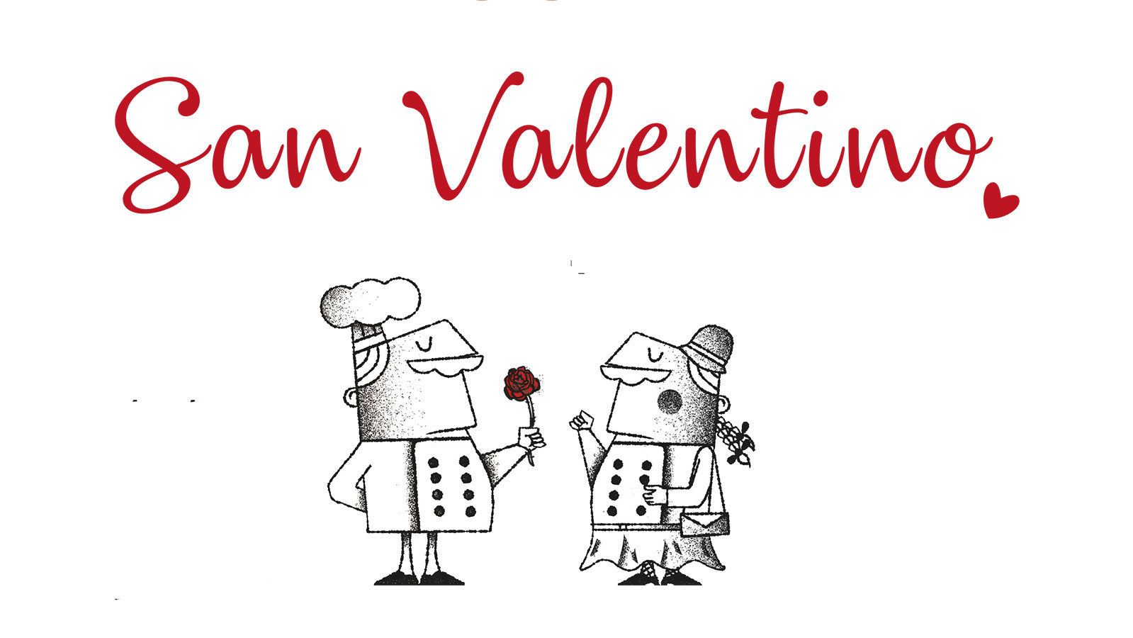 vignetta cena di san valentino