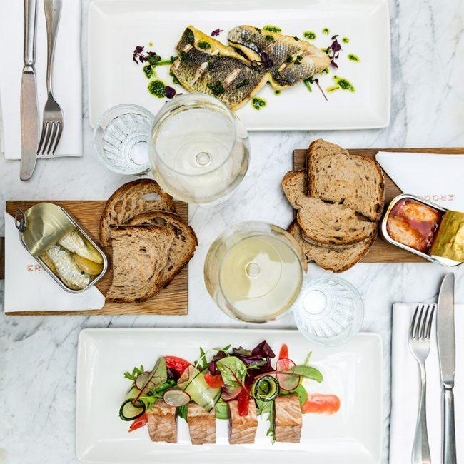 tavolo del ristorante ercoli Parioli