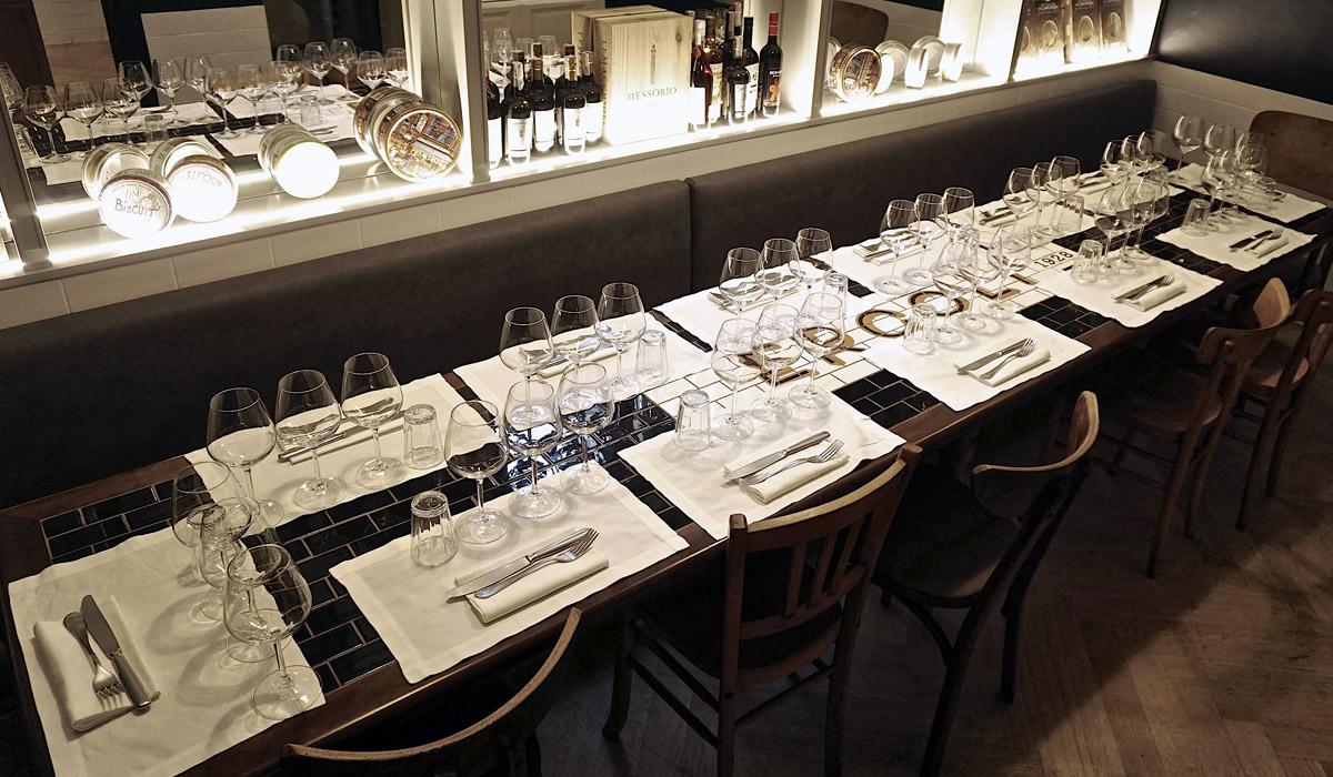 sala per cena aziendale