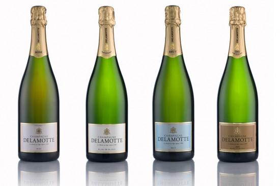4 bottiglie di champagne delamotte